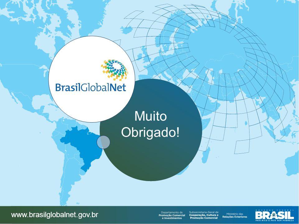 Muito Obrigado! www.brasilglobalnet.gov.br