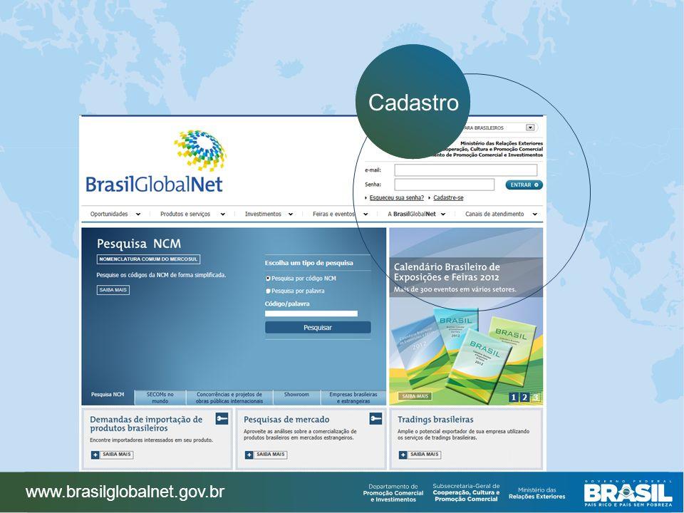 Cadastro www.brasilglobalnet.gov.br