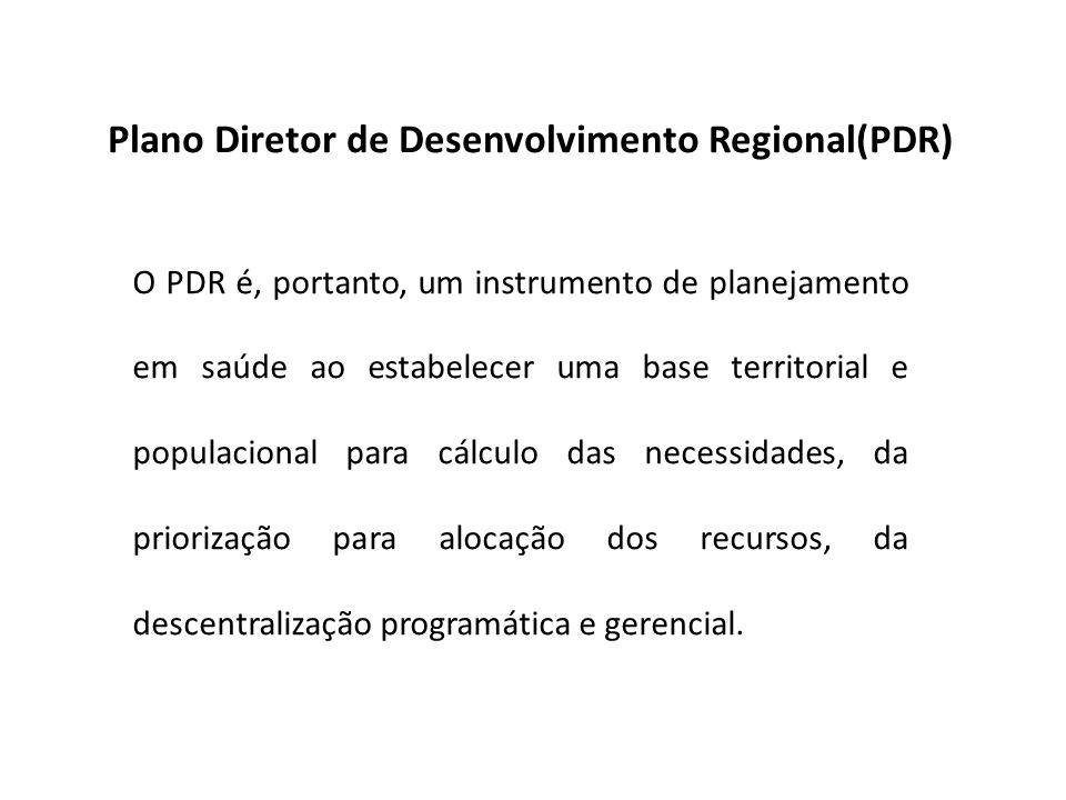 Plano Diretor de Desenvolvimento Regional(PDR)