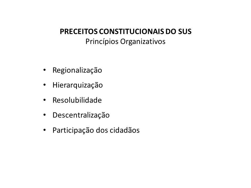 PRECEITOS CONSTITUCIONAIS DO SUS