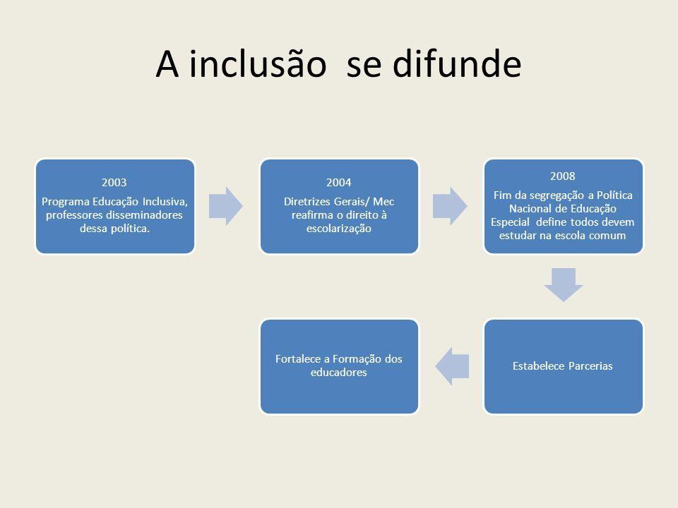 A inclusão se difunde Programa Educação Inclusiva, professores disseminadores dessa política. 2003.