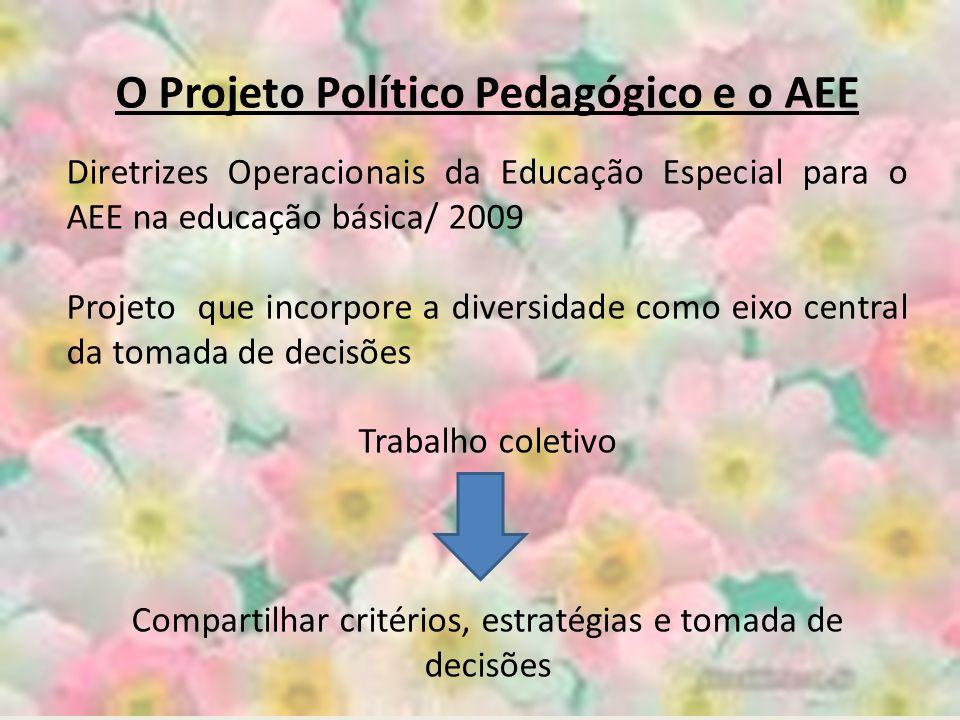 O Projeto Político Pedagógico e o AEE