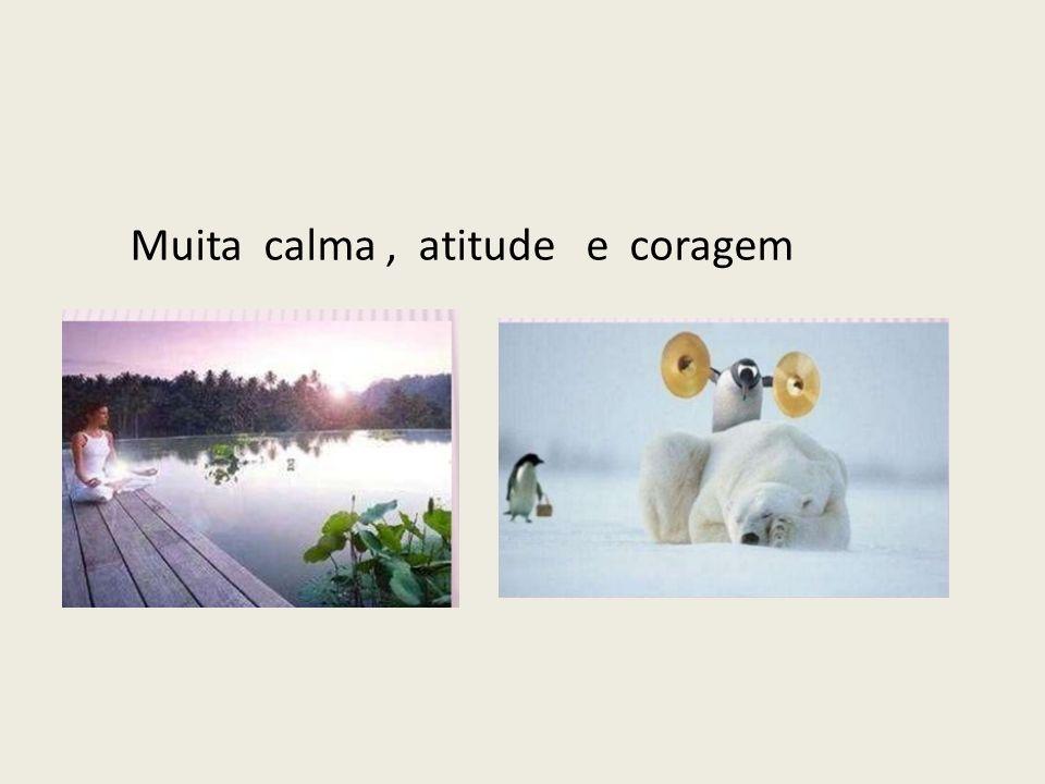 Muita calma , atitude e coragem