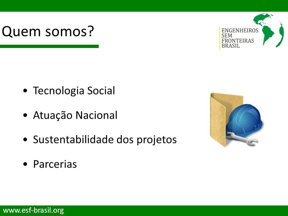 Quem somos Tecnologia Social Atuação Nacional