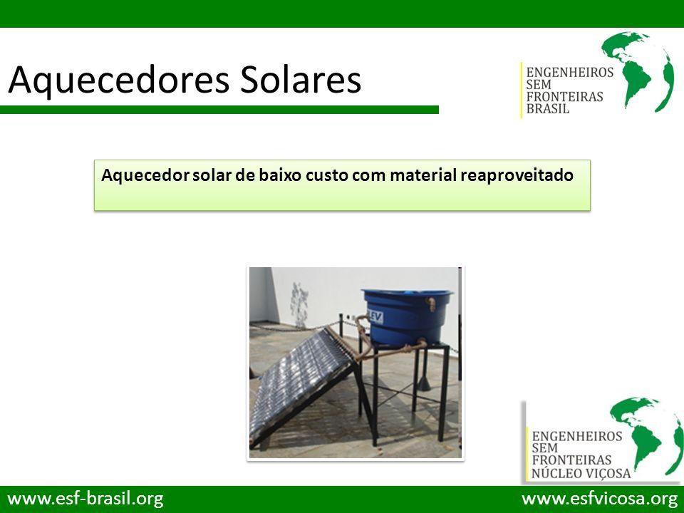Aquecedores Solares www.esf-brasil.org www.esfvicosa.org