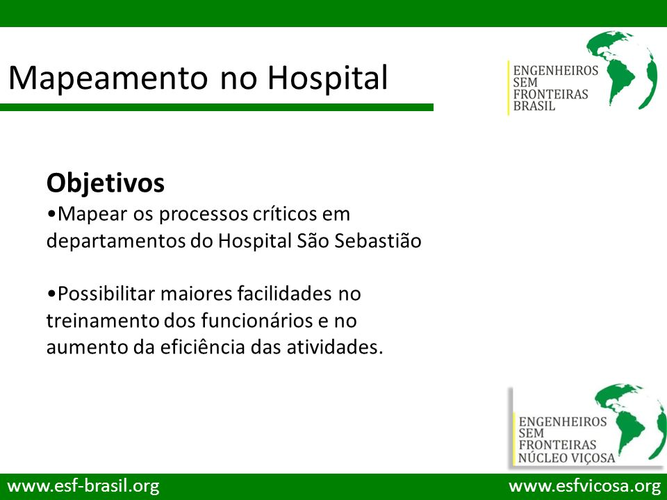 Mapeamento no Hospital