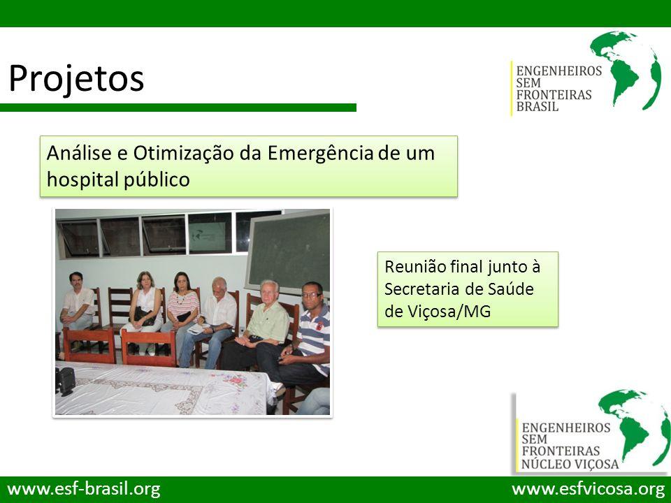 Projetos Análise e Otimização da Emergência de um hospital público