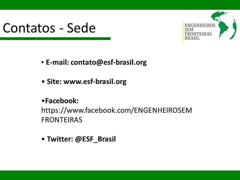 Contatos - Sede E-mail: contato@esf-brasil.org