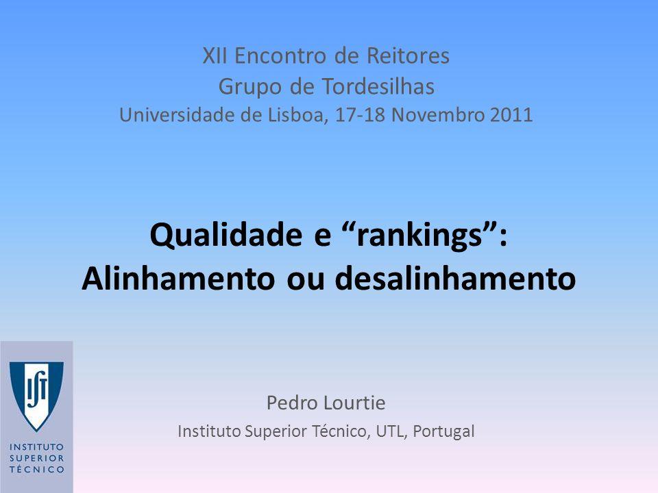 Qualidade e rankings : Alinhamento ou desalinhamento