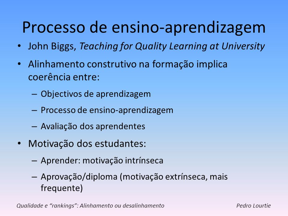 Processo de ensino-aprendizagem