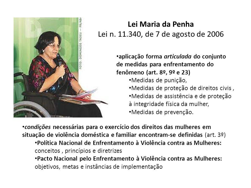 Lei Maria da Penha Lei n. 11.340, de 7 de agosto de 2006