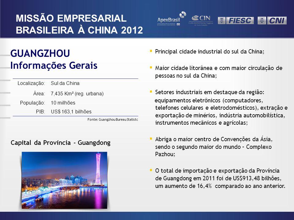 GUANGZHOU MISSÃO EMPRESARIAL BRASILEIRA À CHINA 2012