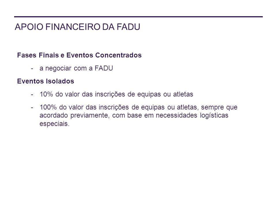 APOIO FINANCEIRO DA FADU