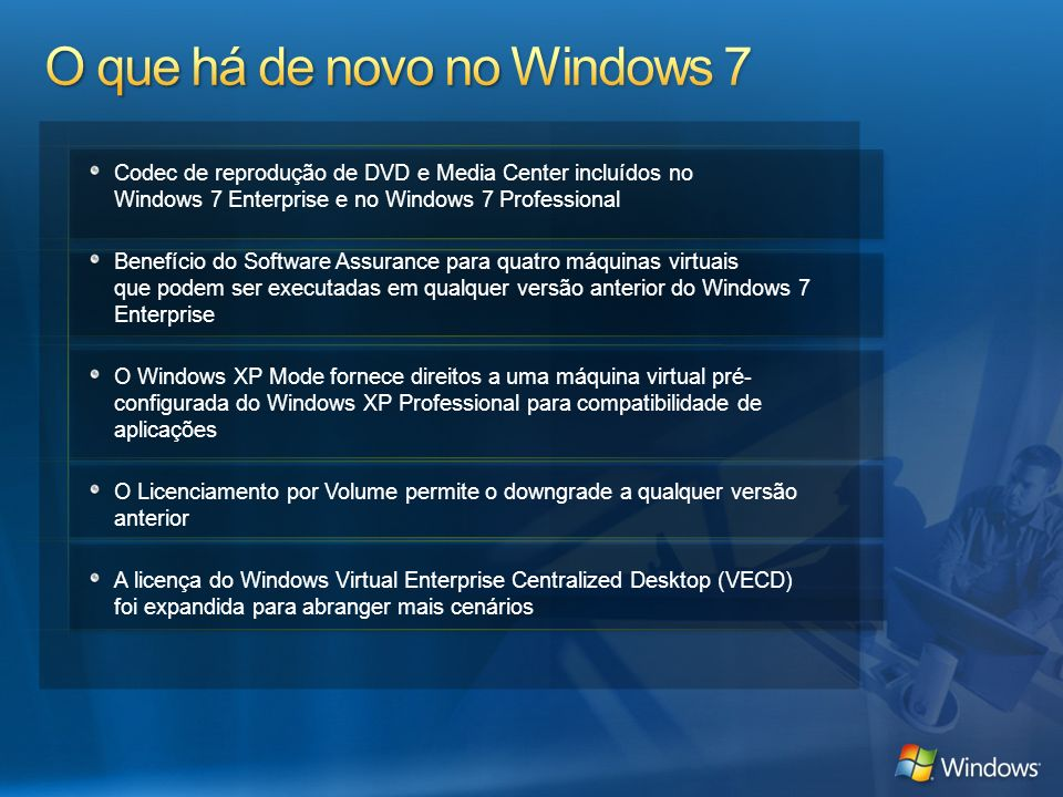O que há de novo no Windows 7