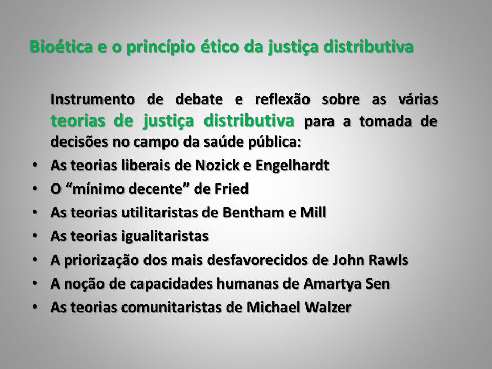 Bioética e o princípio ético da justiça distributiva