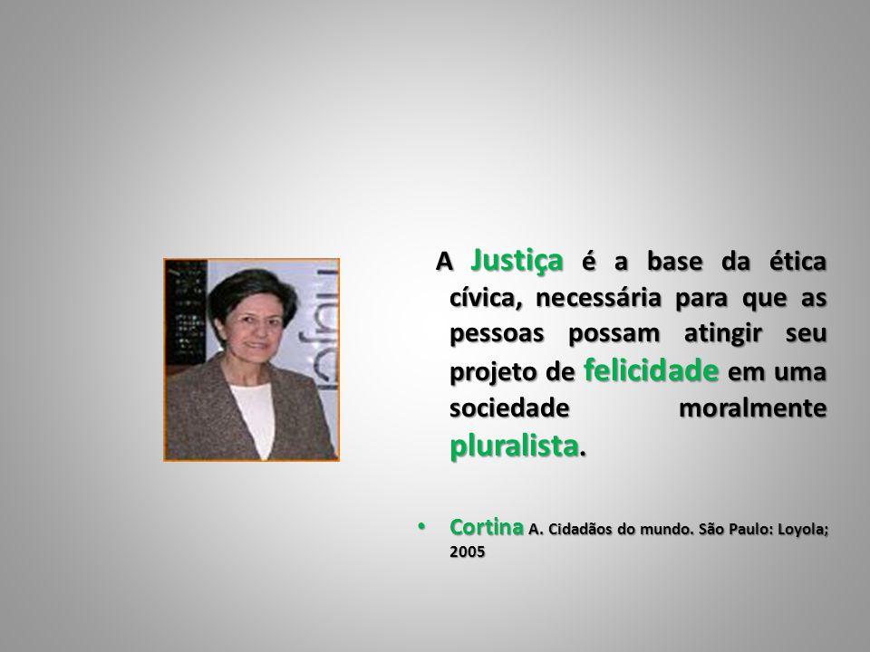 A Justiça é a base da ética cívica, necessária para que as pessoas possam atingir seu projeto de felicidade em uma sociedade moralmente pluralista.
