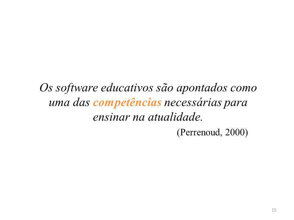 Os software educativos são apontados como uma das competências necessárias para ensinar na atualidade.