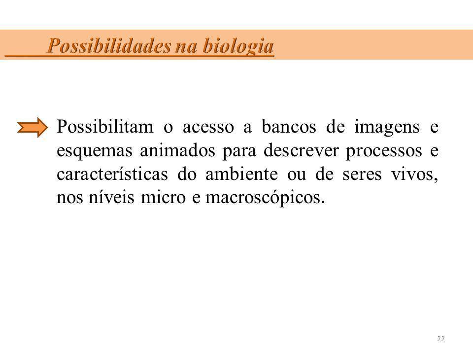 Possibilidades na biologia