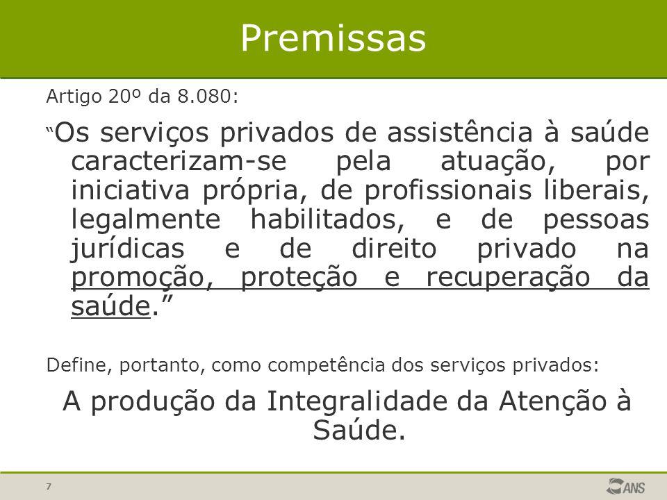 A produção da Integralidade da Atenção à Saúde.