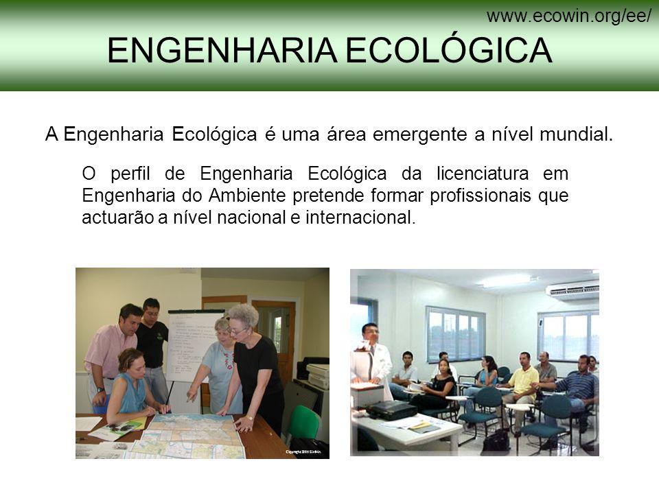 A Engenharia Ecológica é uma área emergente a nível mundial.