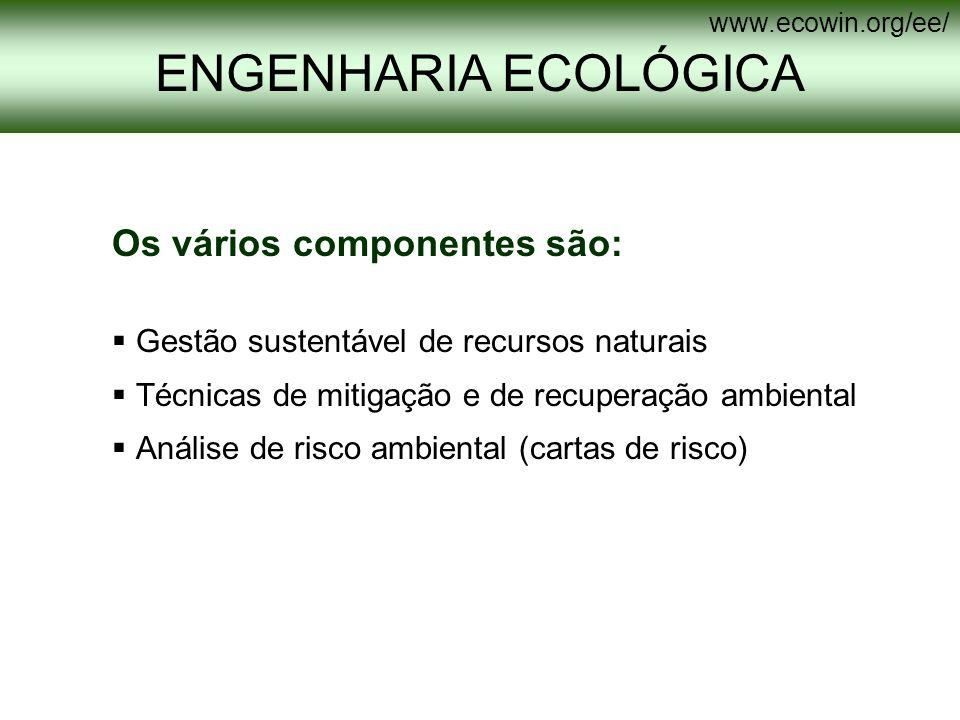 ENGENHARIA ECOLÓGICA Os vários componentes são: