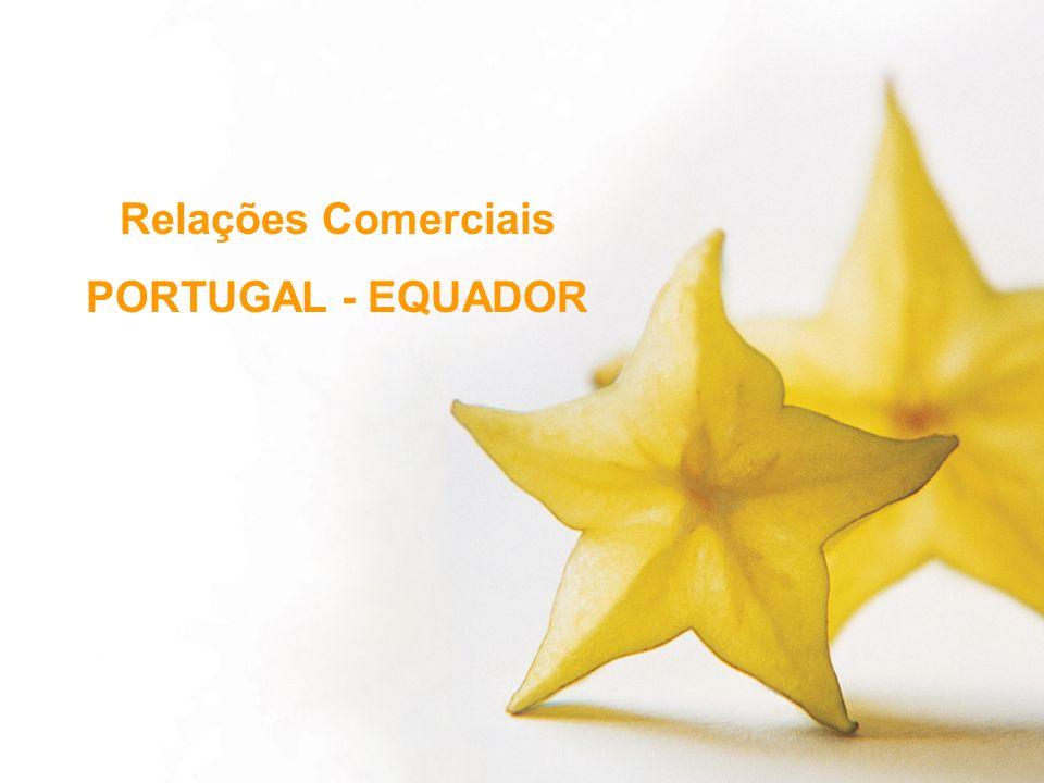 Relações Comerciais PORTUGAL - EQUADOR