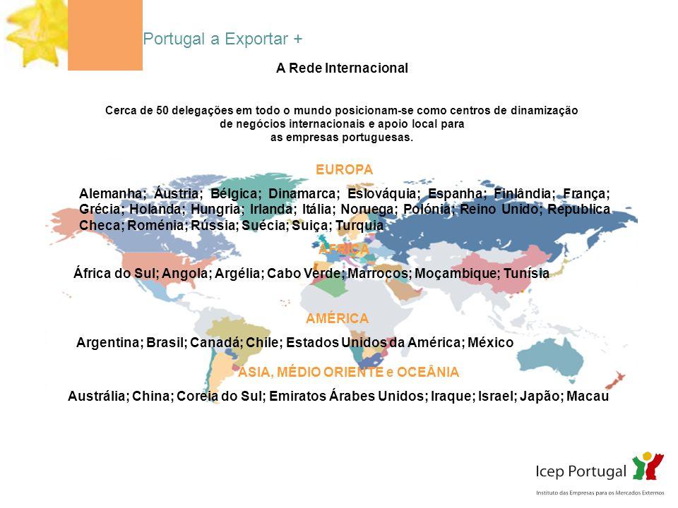 de negócios internacionais e apoio local para as empresas portuguesas.