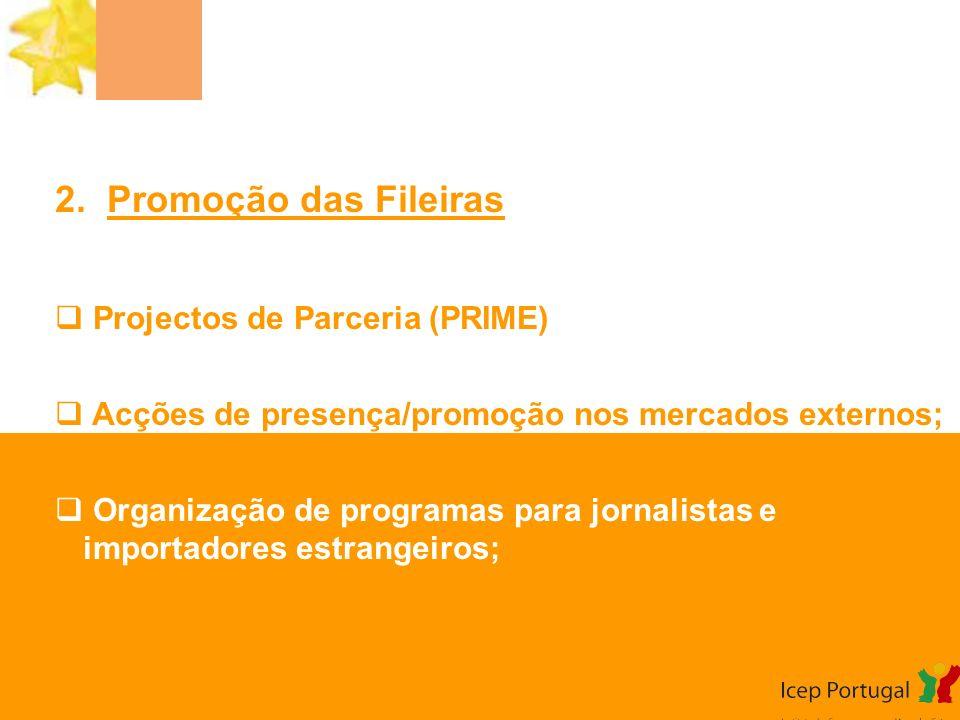 2. Promoção das Fileiras Projectos de Parceria (PRIME)
