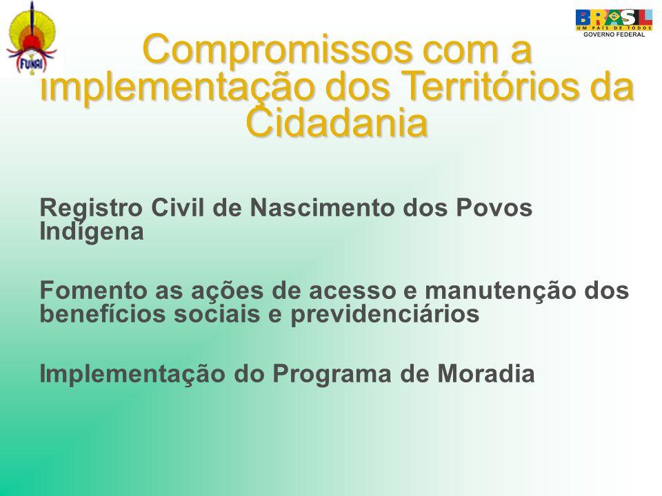 Compromissos com a implementação dos Territórios da Cidadania