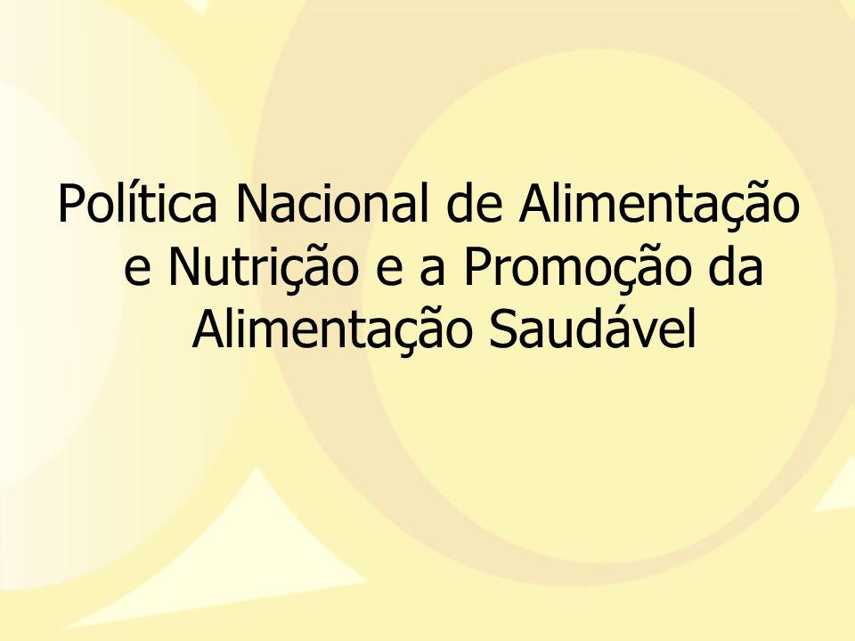Política Nacional de Alimentação e Nutrição e a Promoção da Alimentação Saudável