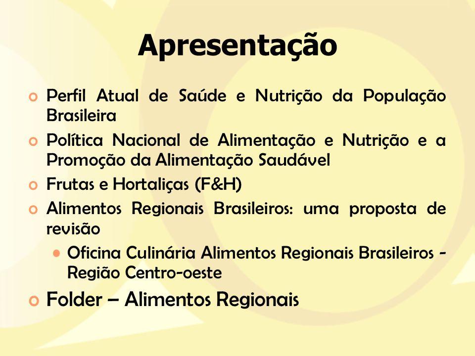 Apresentação Folder – Alimentos Regionais