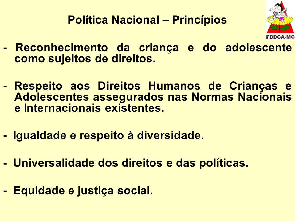 Política Nacional – Princípios