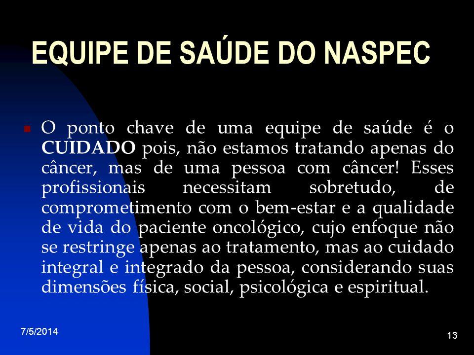 EQUIPE DE SAÚDE DO NASPEC
