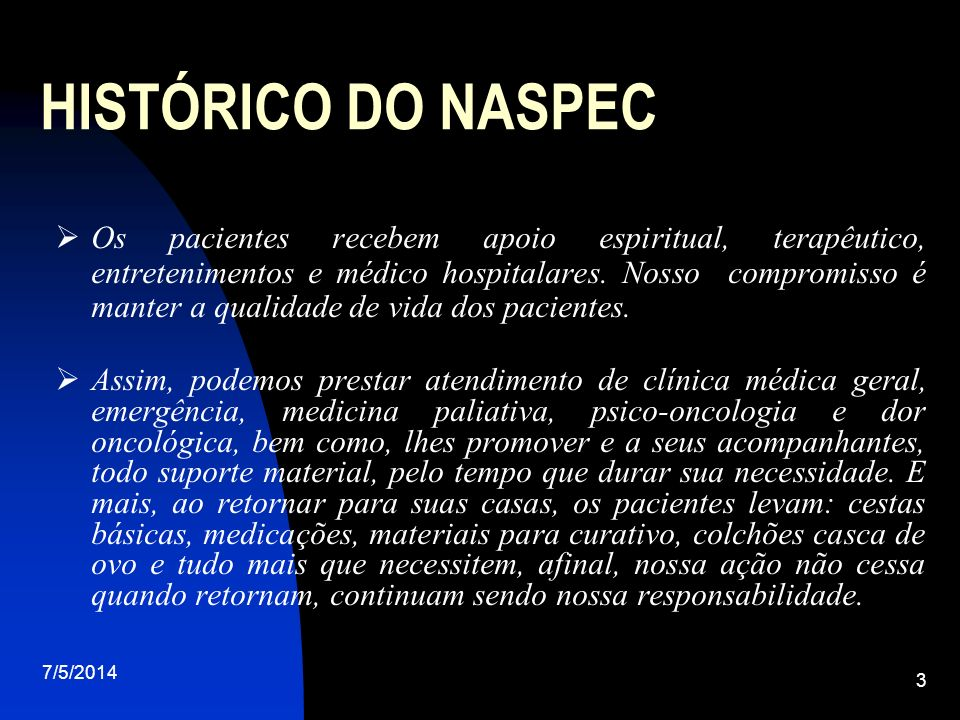 HISTÓRICO DO NASPEC