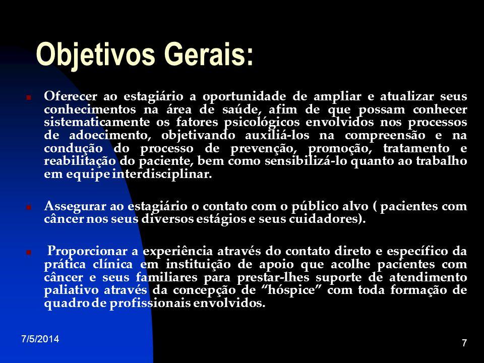 Objetivos Gerais: