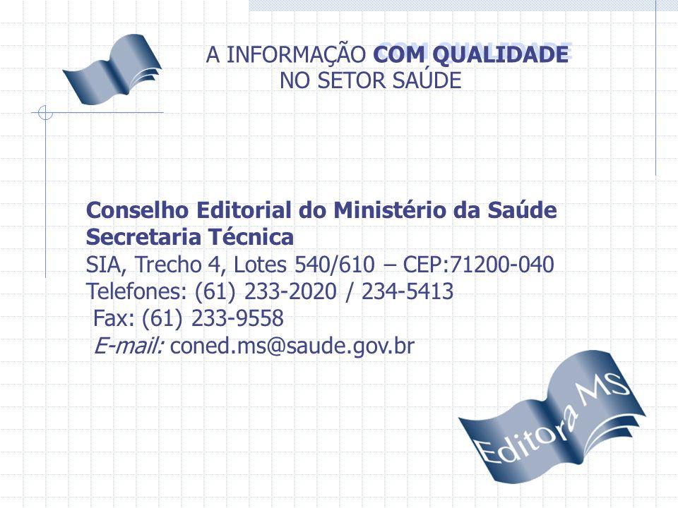 Conselho Editorial do Ministério da Saúde
