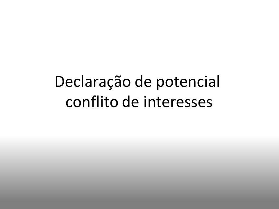 Declaração de potencial conflito de interesses