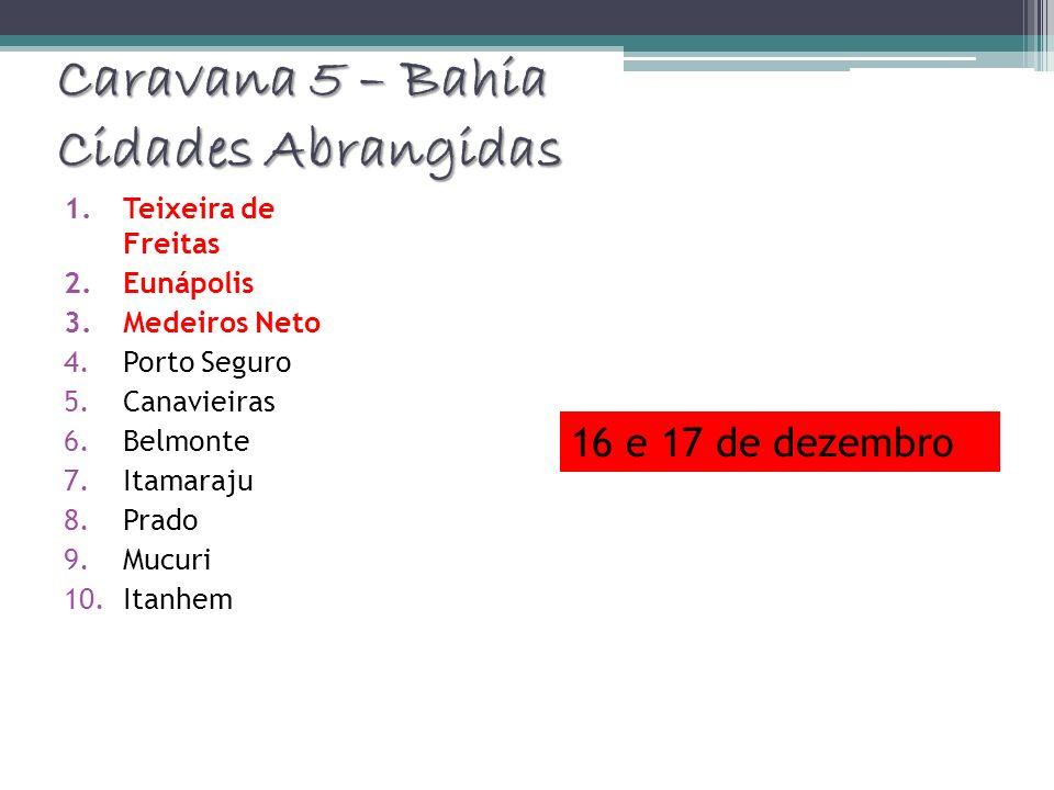 Caravana 5 – Bahia Cidades Abrangidas