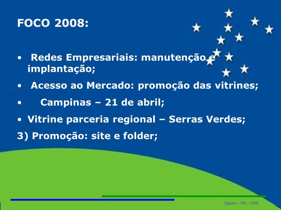 FOCO 2008: Redes Empresariais: manutenção e implantação;