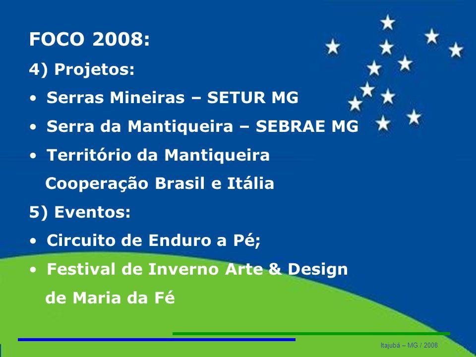 FOCO 2008: 4) Projetos: Serras Mineiras – SETUR MG