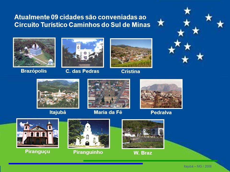 Atualmente 09 cidades são conveniadas ao Circuito Turístico Caminhos do Sul de Minas