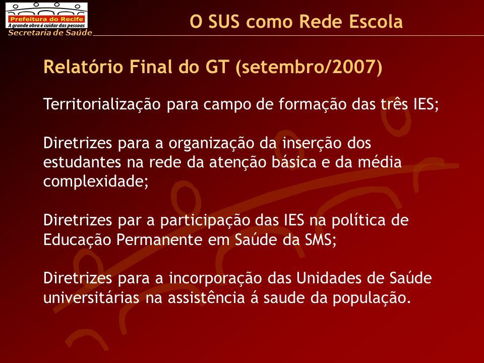 Relatório Final do GT (setembro/2007)