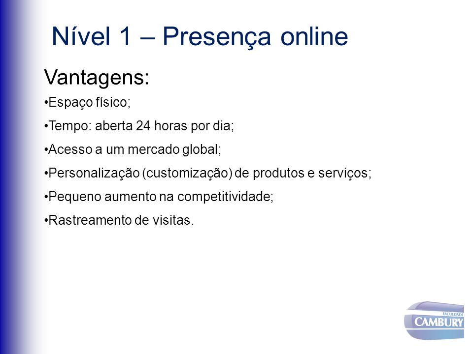 Nível 1 – Presença online