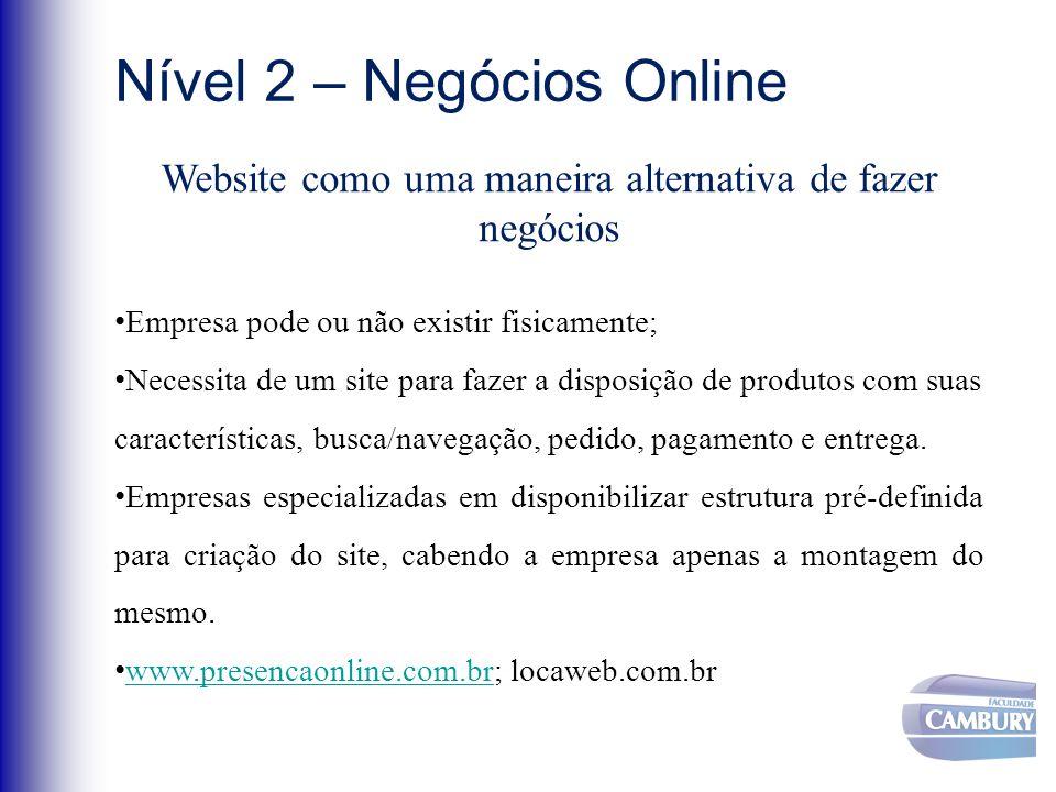 Website como uma maneira alternativa de fazer negócios
