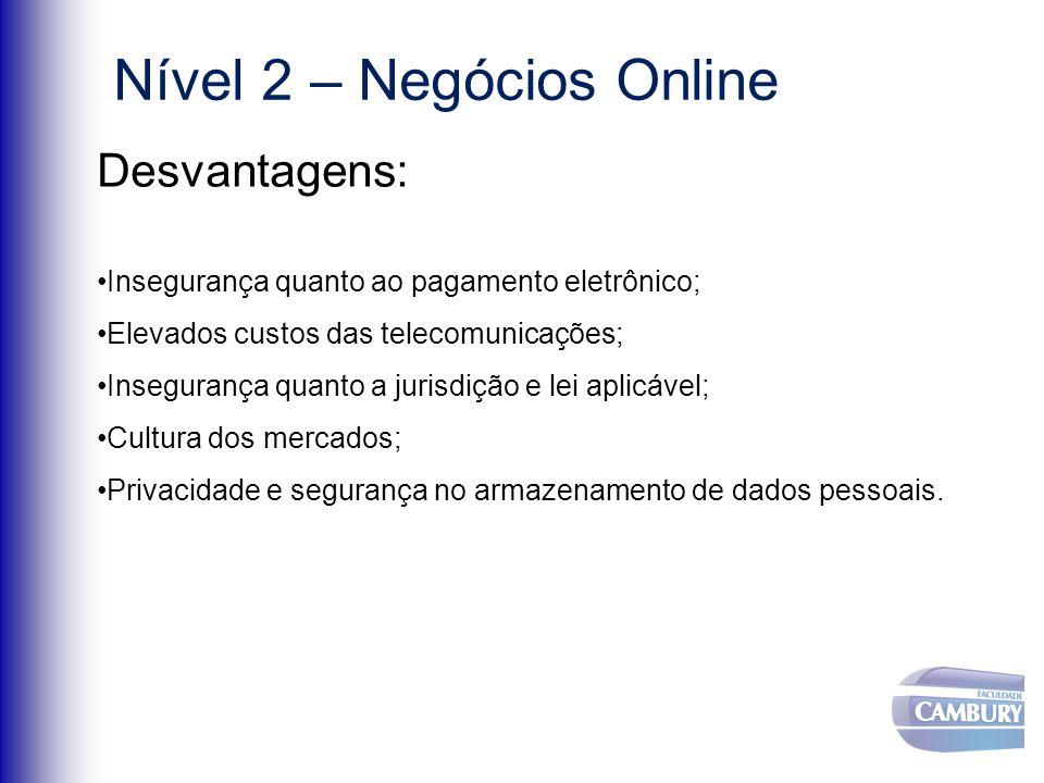 Nível 2 – Negócios Online