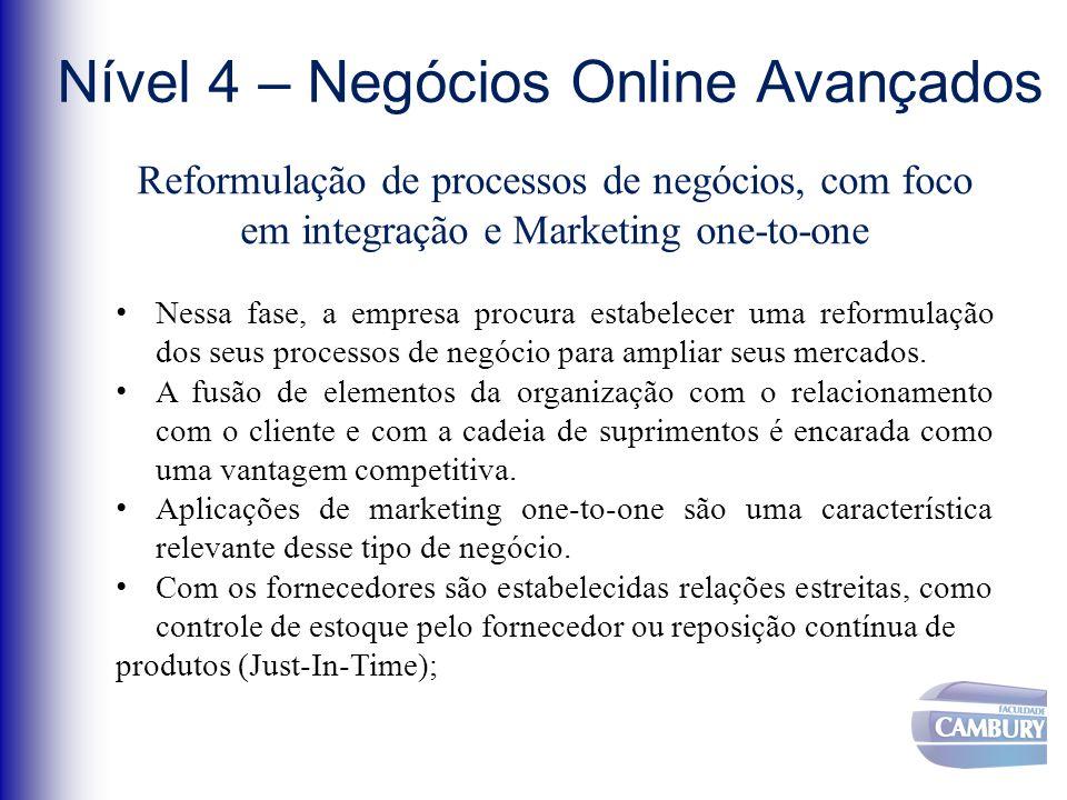 Nível 4 – Negócios Online Avançados