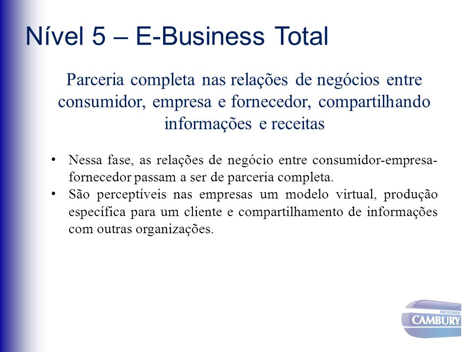 Nível 5 – E-Business Total