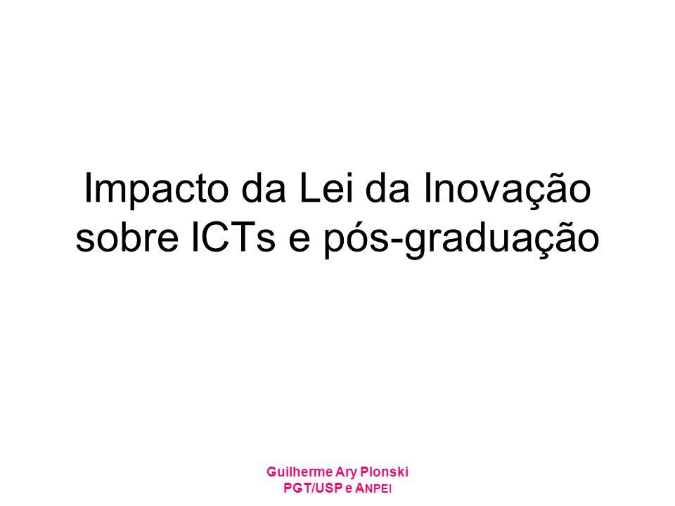 Impacto da Lei da Inovação sobre ICTs e pós-graduação