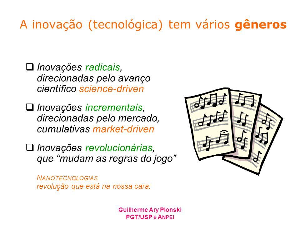 A inovação (tecnológica) tem vários gêneros