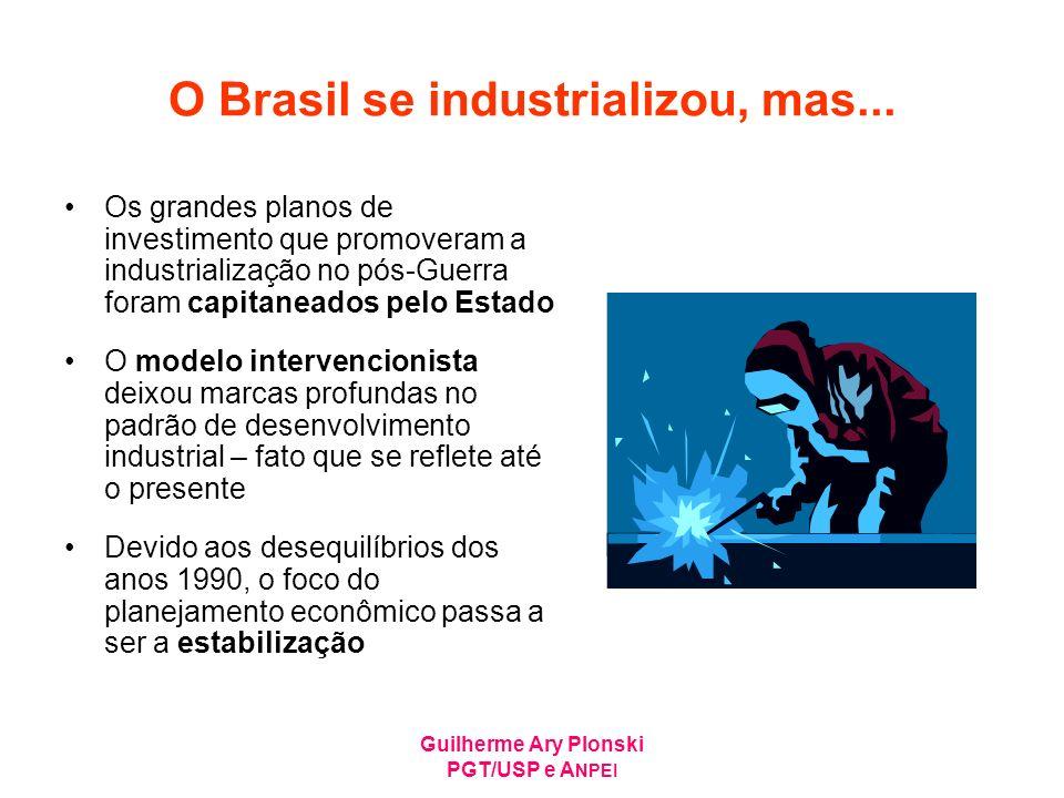 O Brasil se industrializou, mas...